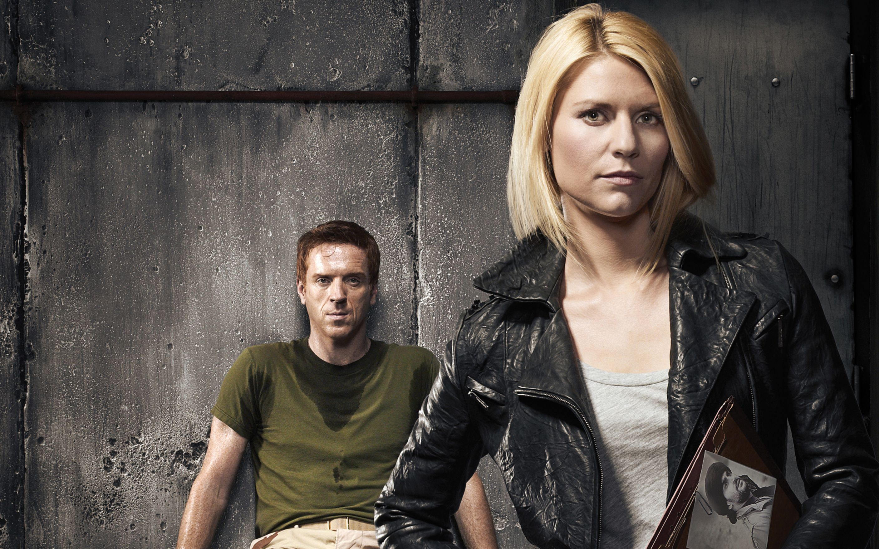 Download free HD Damian Lewis Claire Danes Homeland Wide Wallpaper, image