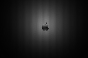 Dark Apple Logo Wide Wallpaper
