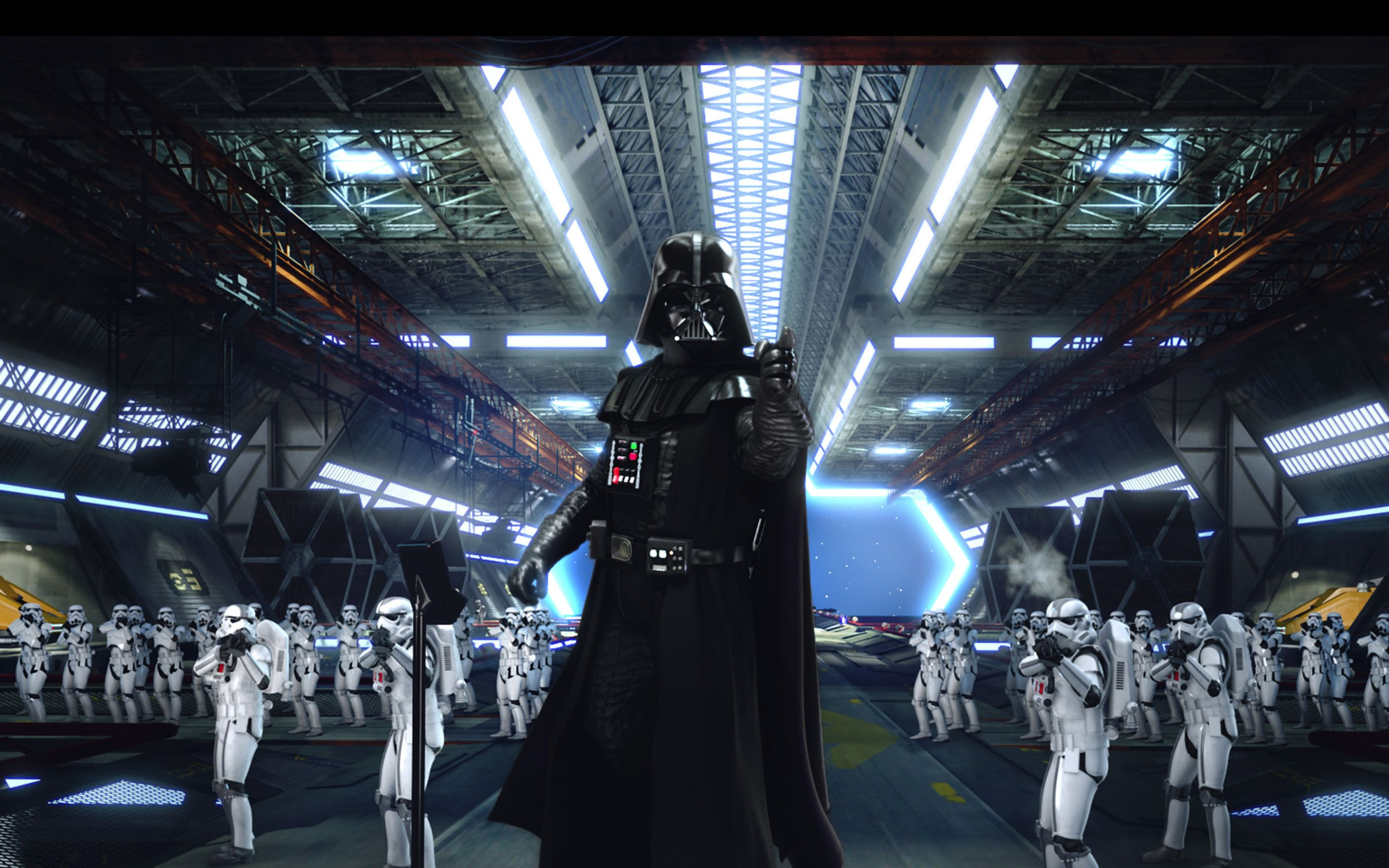 Download free HD Darth Vader Stormtroopers Wide Wallpaper, image