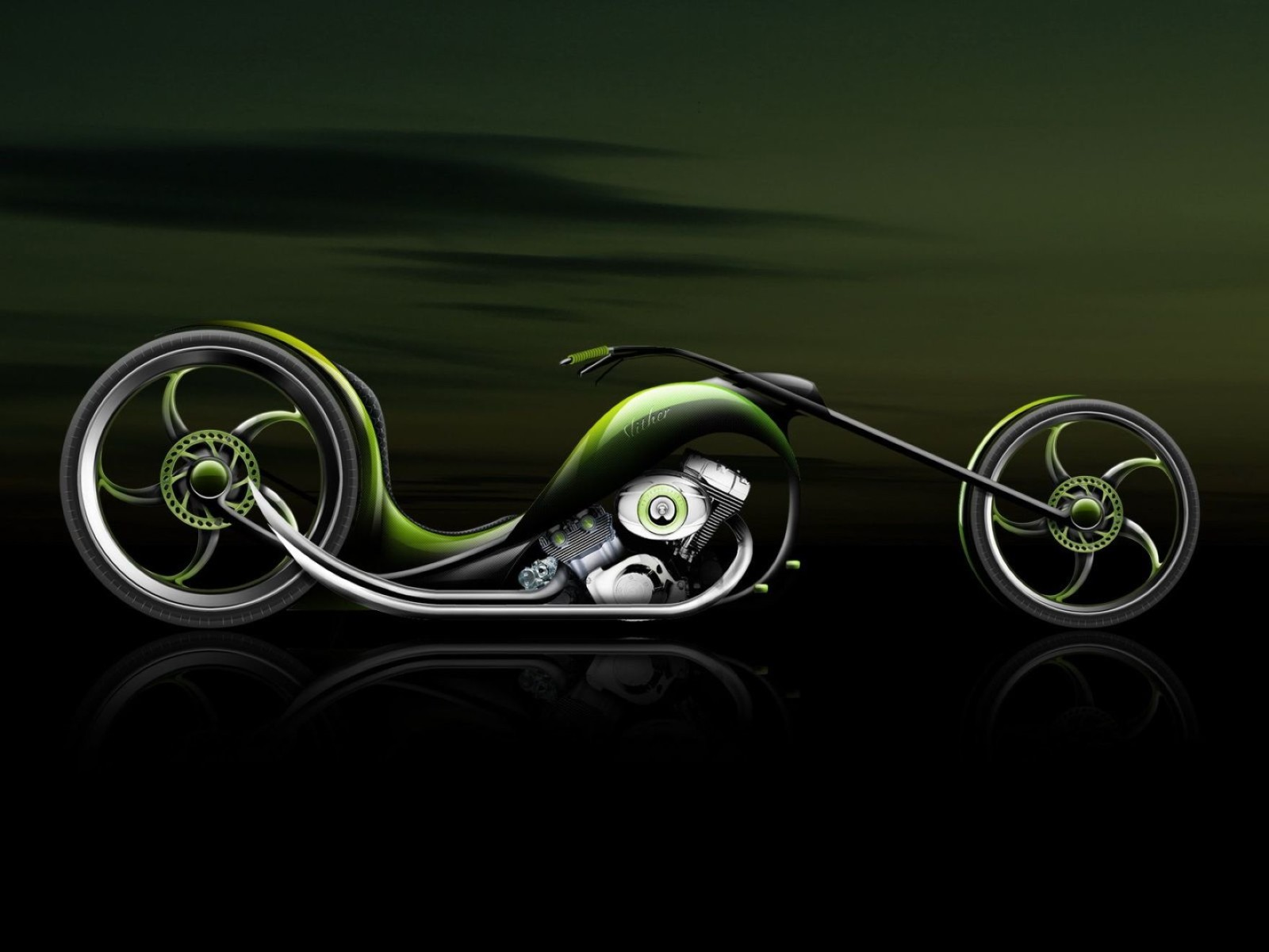 Desktop 3D Bike Animation For Window 7 Wallpaper
