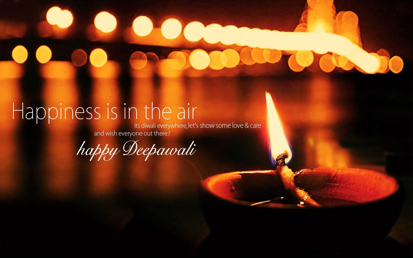 Download free HD Diwali Lamp Wishes Quote, image