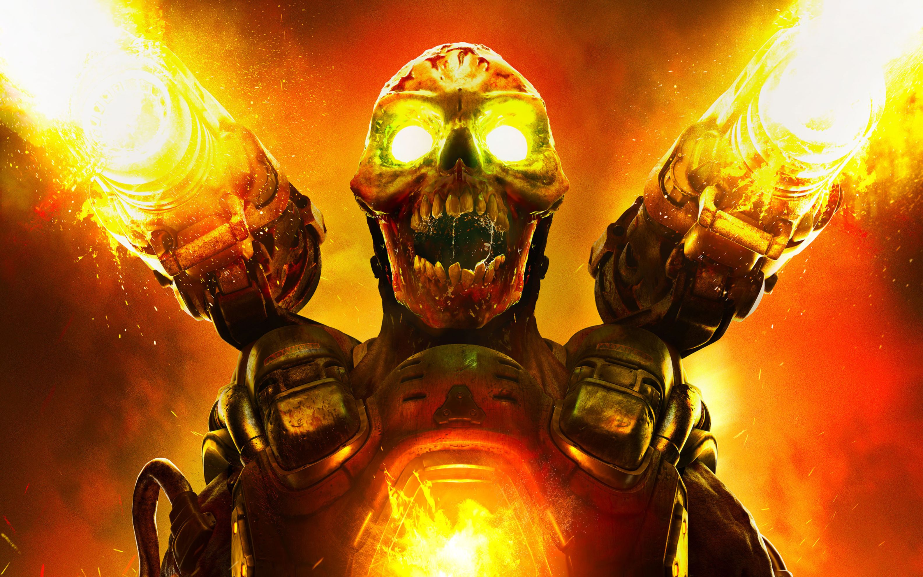Download free HD Doom 2016 Game Wide Wallpaper, image