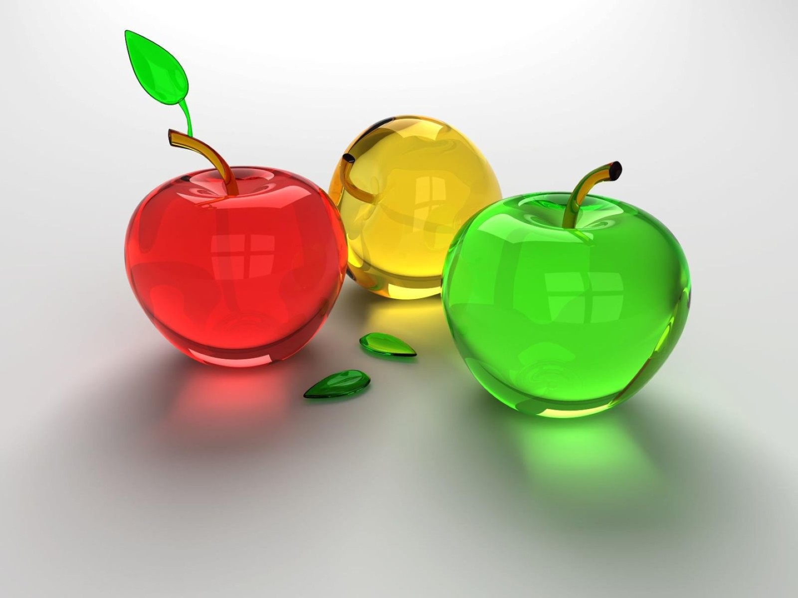 Download Background 3D Apple Colorful Wallpaper