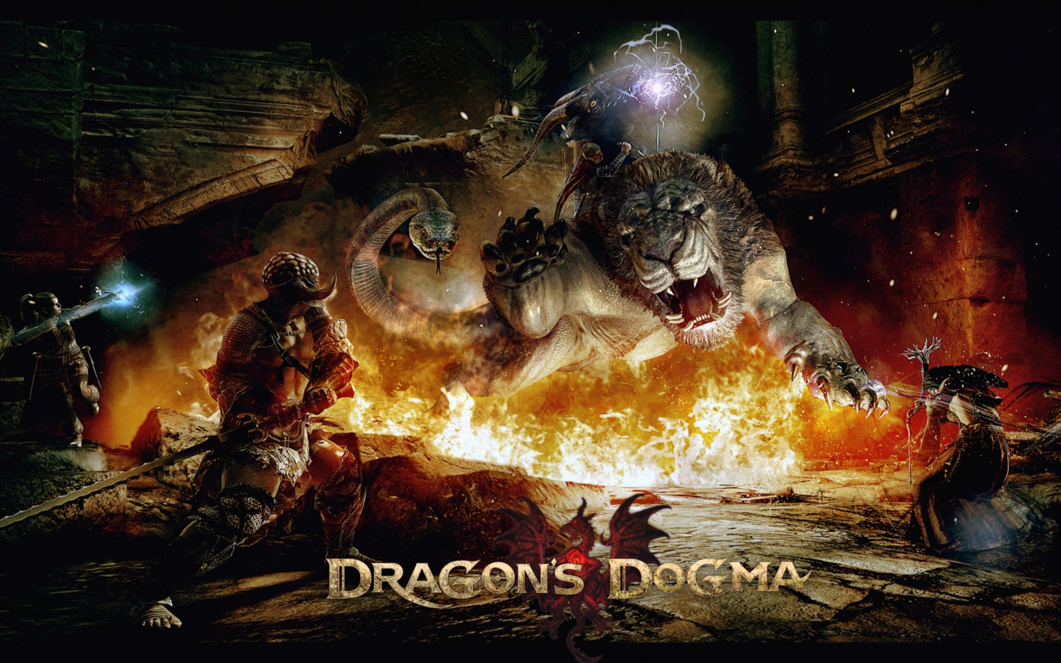 Download free HD Dragons Dogma Game 2 Wide Wallpaper, image