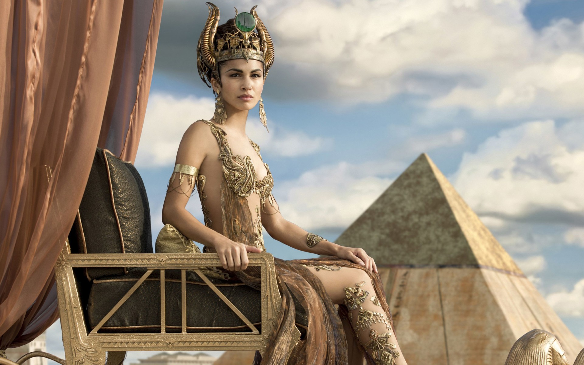 Elodie Yung As Hathor Gods of Egypt Wide Wallpaper