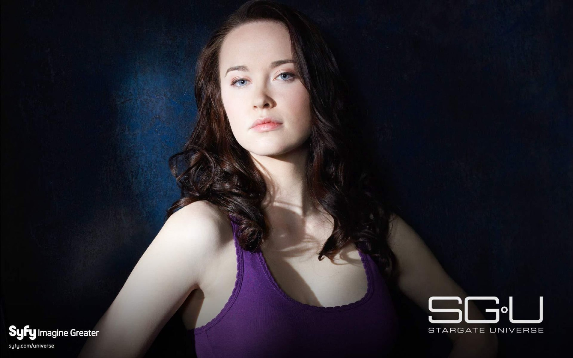 Elyse Levesque In Stargate Universe Wide Wallpaper