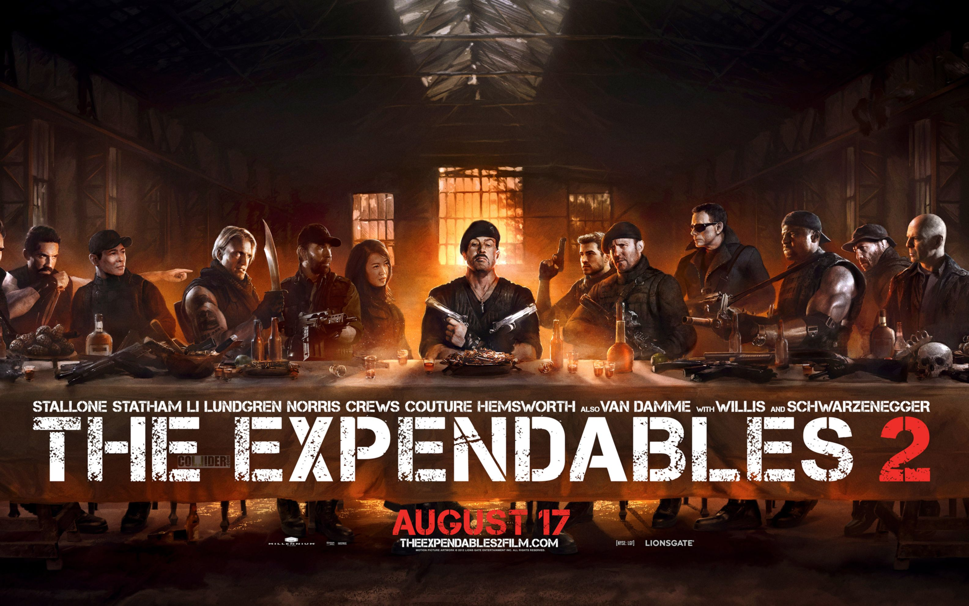 Download free HD Expendables 2 The Last Supper Wide Wallpaper, image