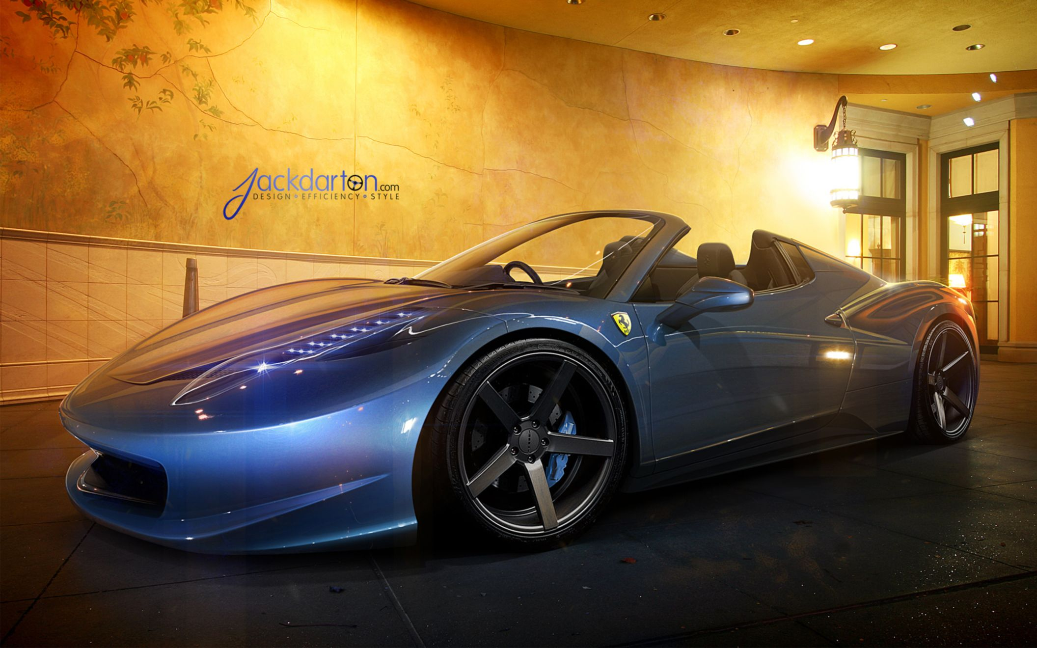 Download free HD Ferrari 458 Spider Wide Wallpaper, image