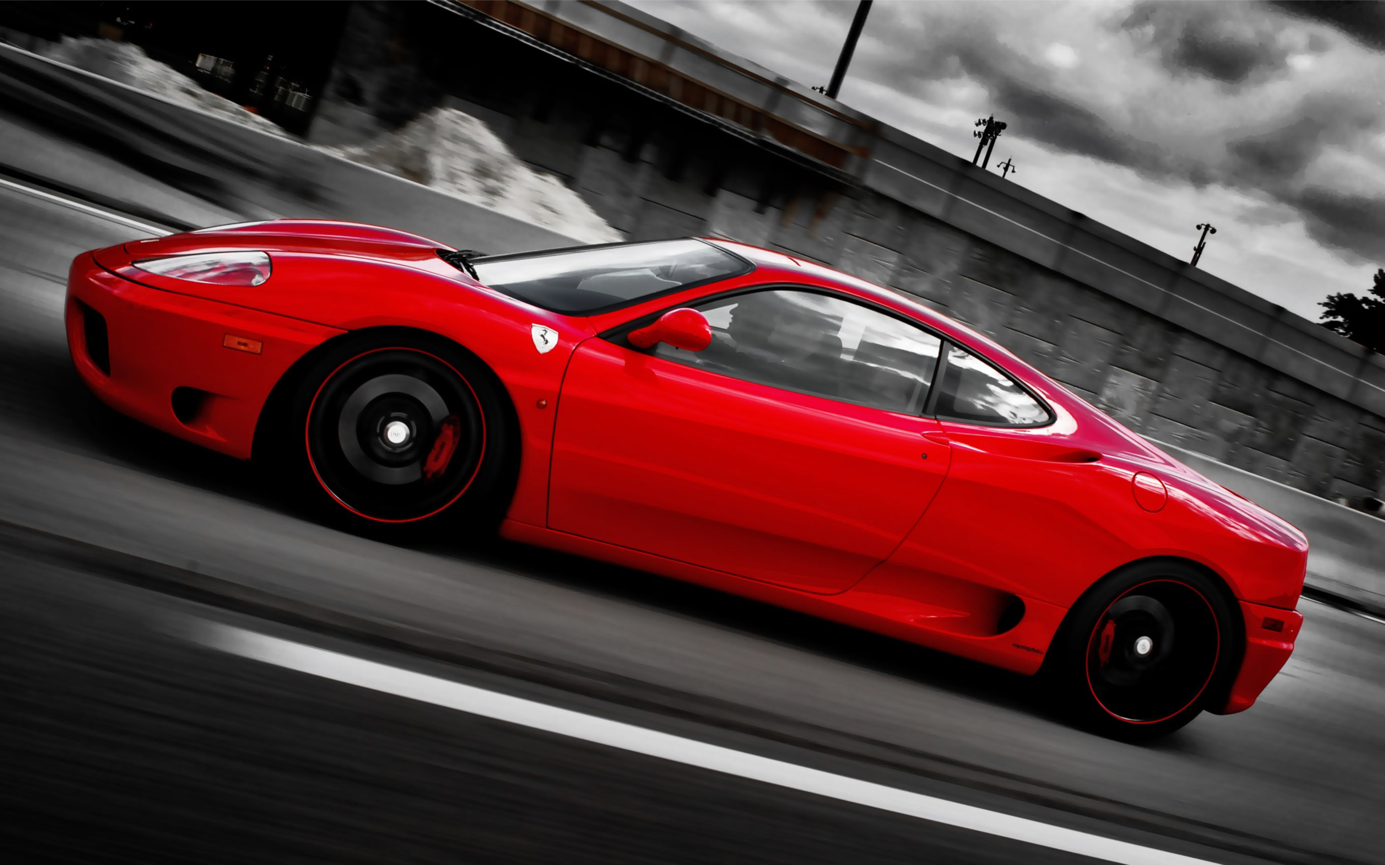 Download free HD Ferrari On Forged Cf 5 Wheels Wide Wallpaper, image