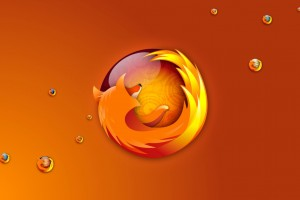 Firefox Bubbles Wide Wallpaper
