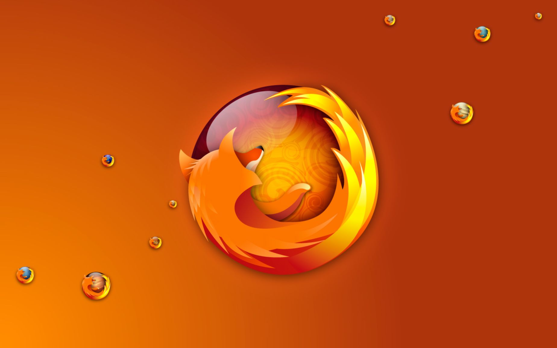 Download free HD Firefox Bubbles Wide Wallpaper, image