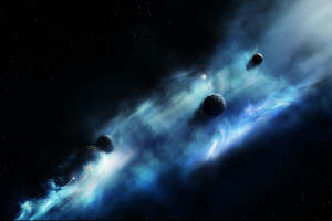 Free 3d Space Black Dark Wallpaper