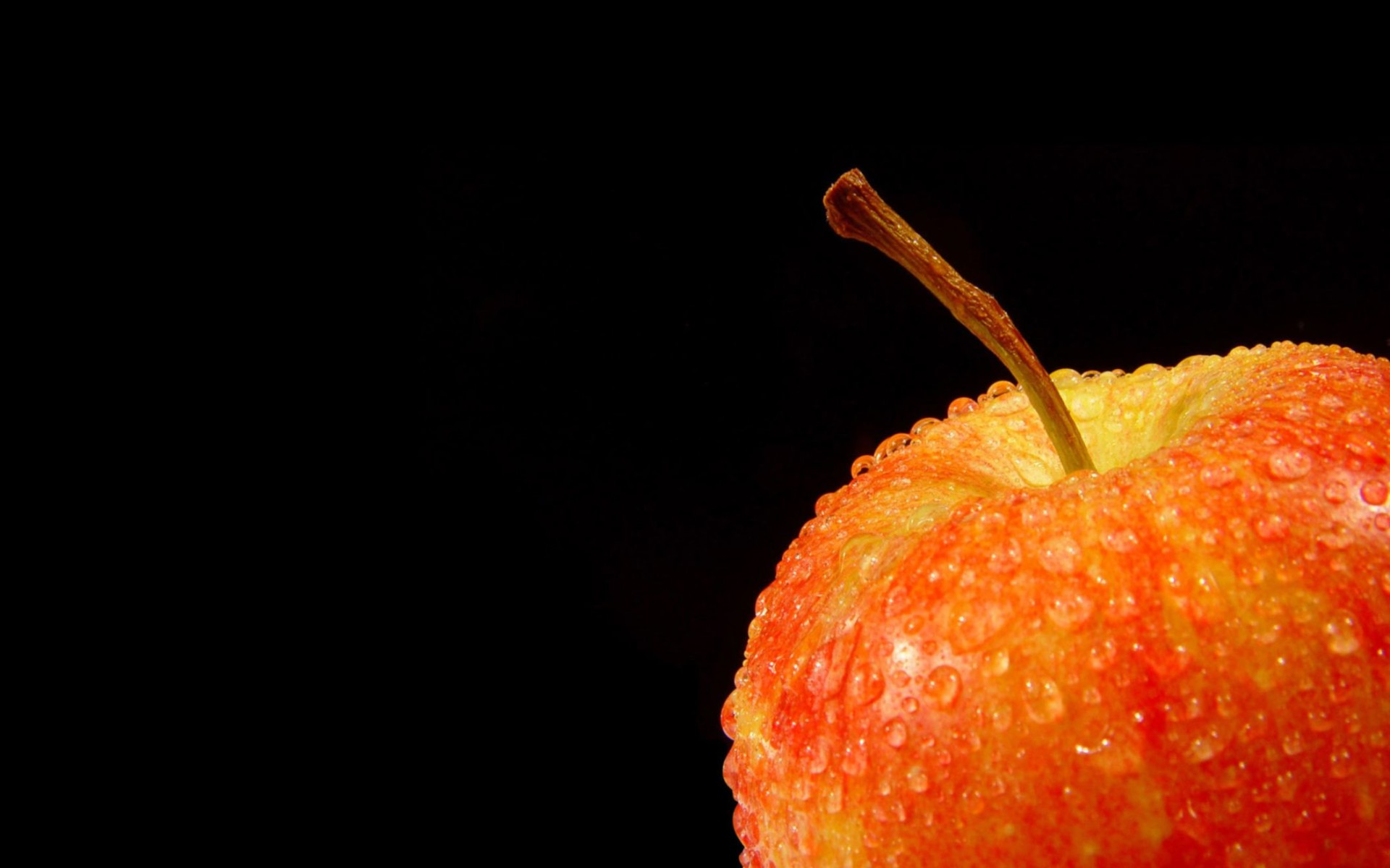 Fresh Fruit Apple Black Background for Desktop Wallpaper