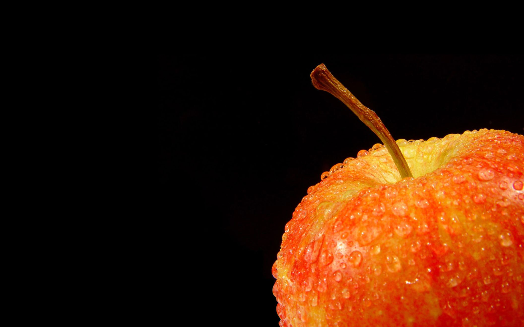Download free HD Fresh Fruit Apple Black Background for Desktop Wallpaper, image