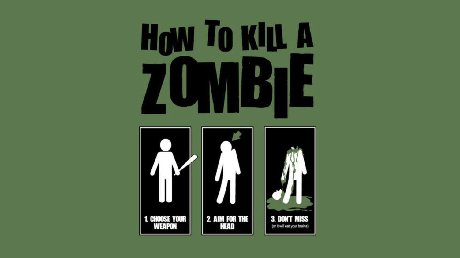 Download free HD Funny Zombie 1080p Wallpaper, image