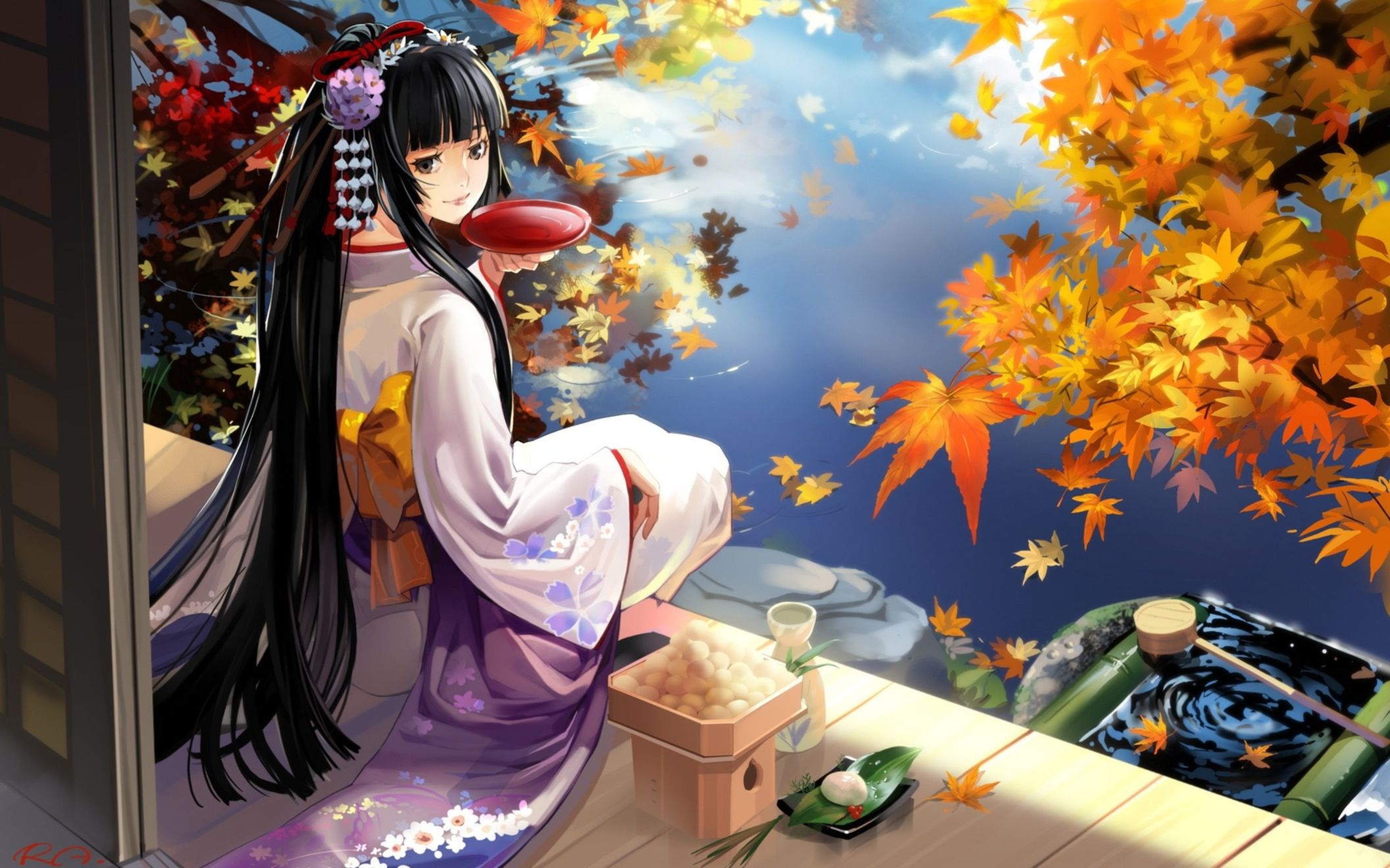 Download free HD Geisha Anime Wide Wallpaper, image