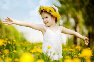 Download Girl Dancing In Field Of Yellow Flowers Wallpaper Free Wallpaper on dailyhdwallpaper.com