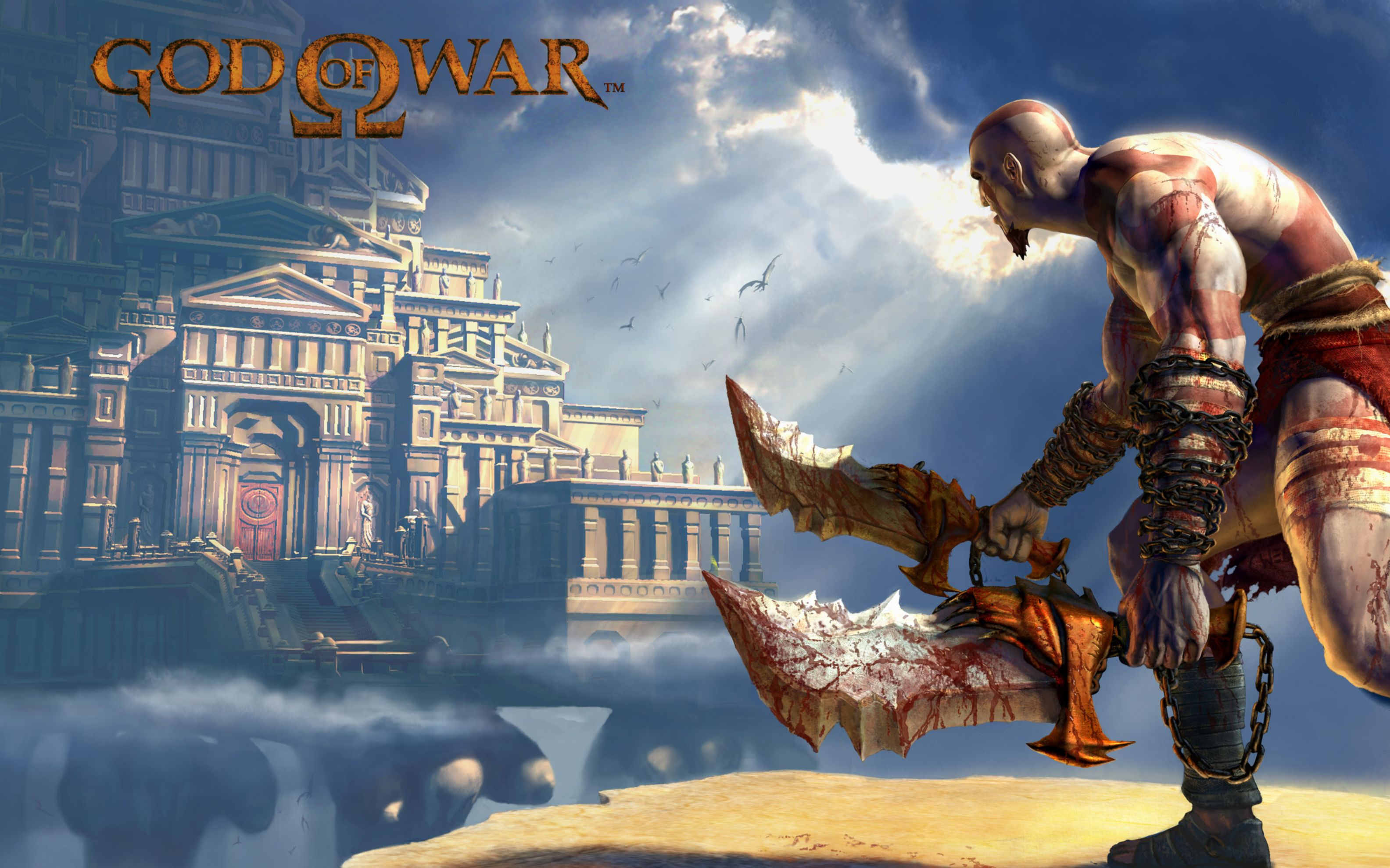 Download free HD God of War 2 Game Wide Wallpaper, image