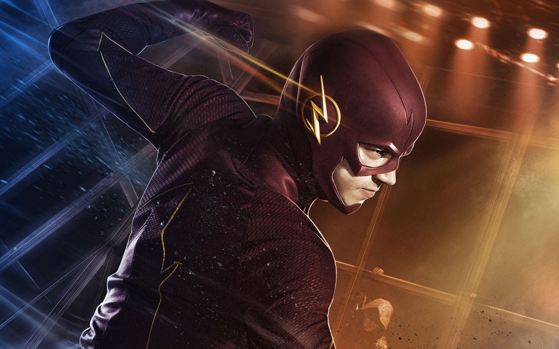 Grant Gustin as Barry Allen The Flash Wide Wallpaper