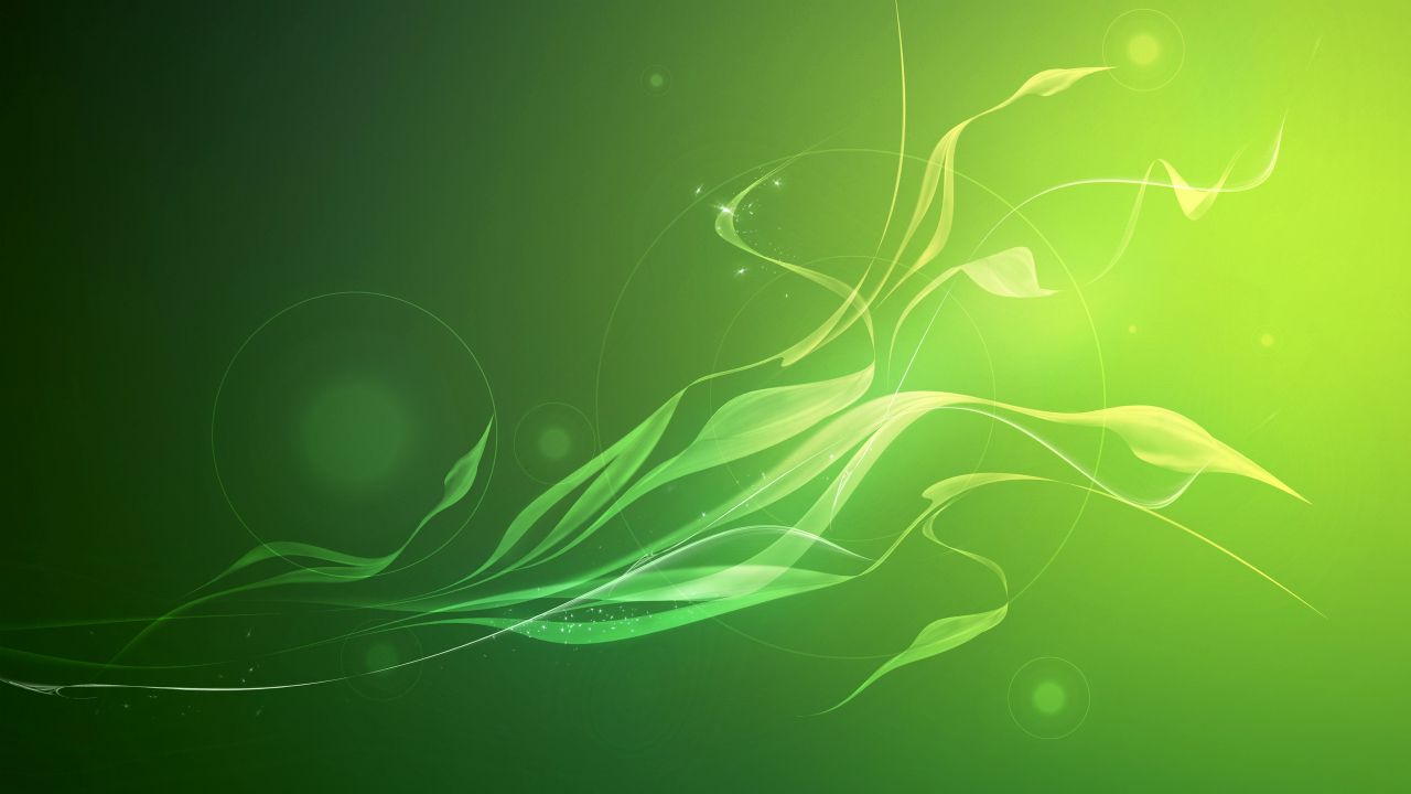 Green Abstract Background HD Wallpaper