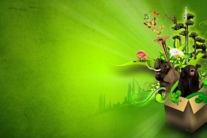 Green Background Cartoon HD 1080p Wallpaper