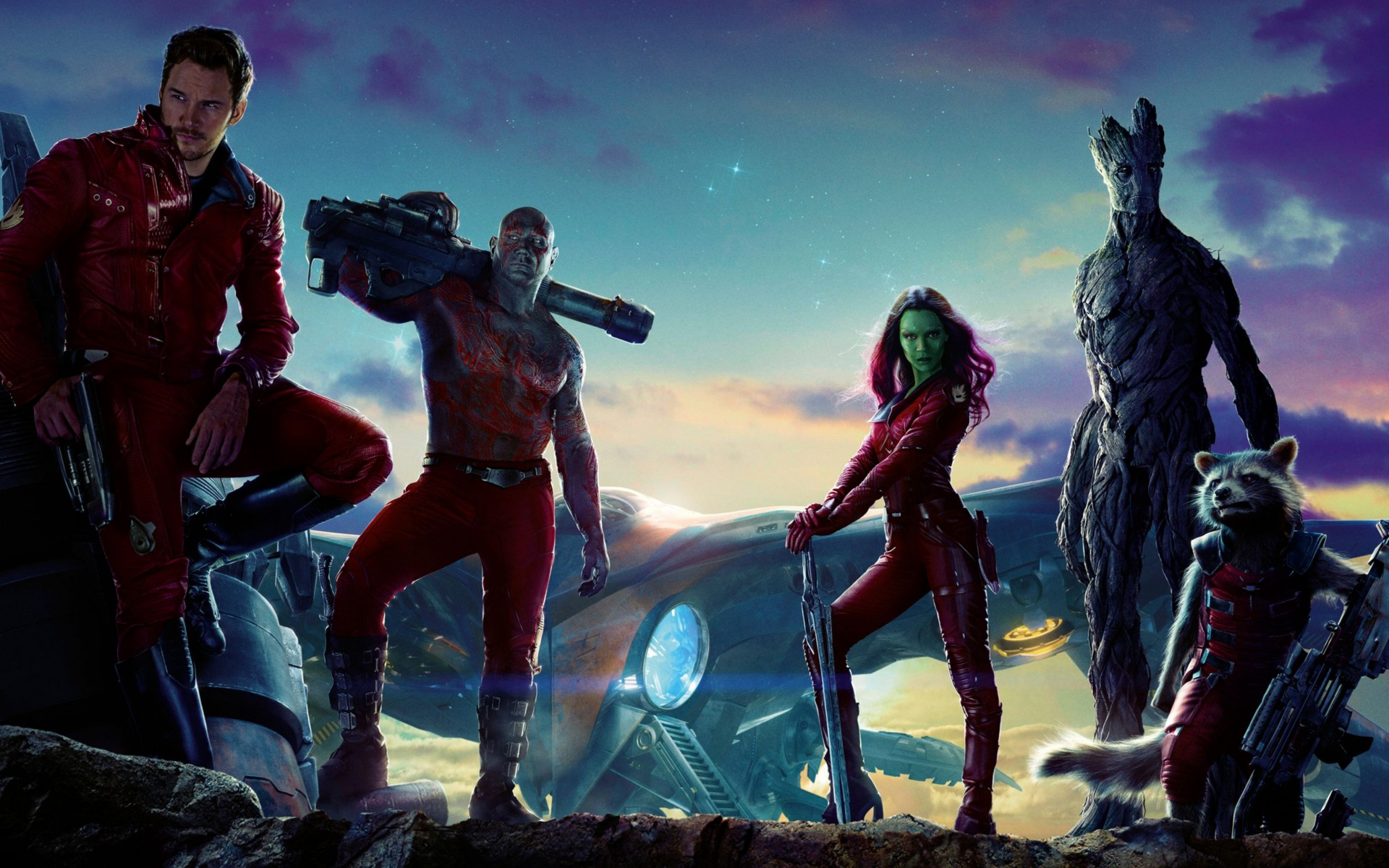 Guardians of The Galaxy Movie Wide Wallpaper