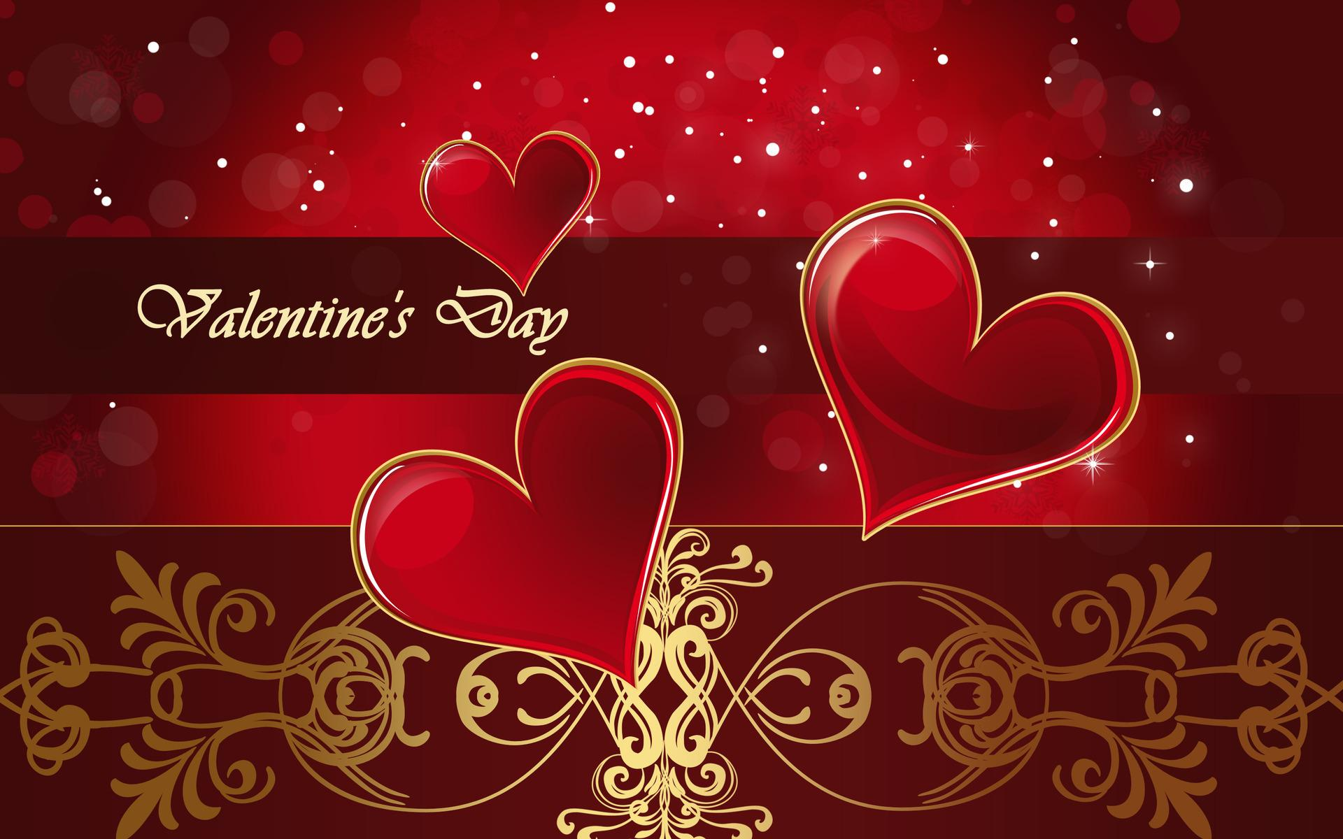 happy valentines day love hearts 3d desktop wallpaper: desktop hd