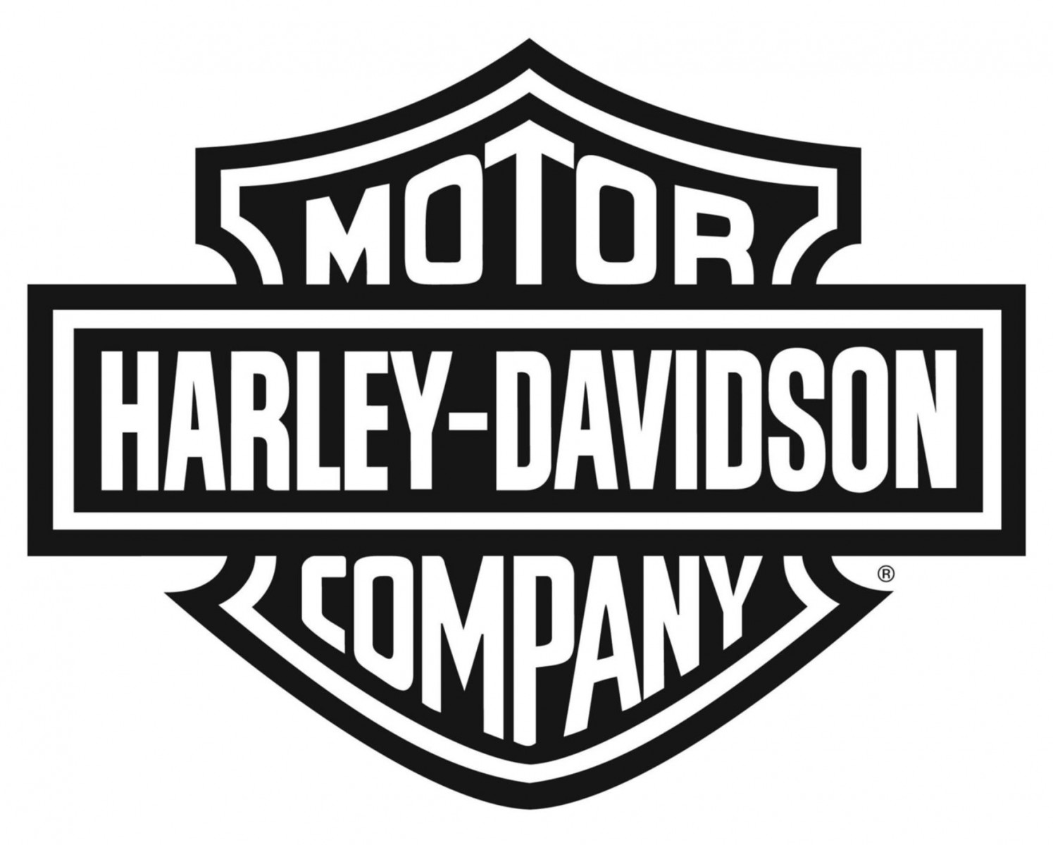 Harley Logo Black And White Vector Wallpaper