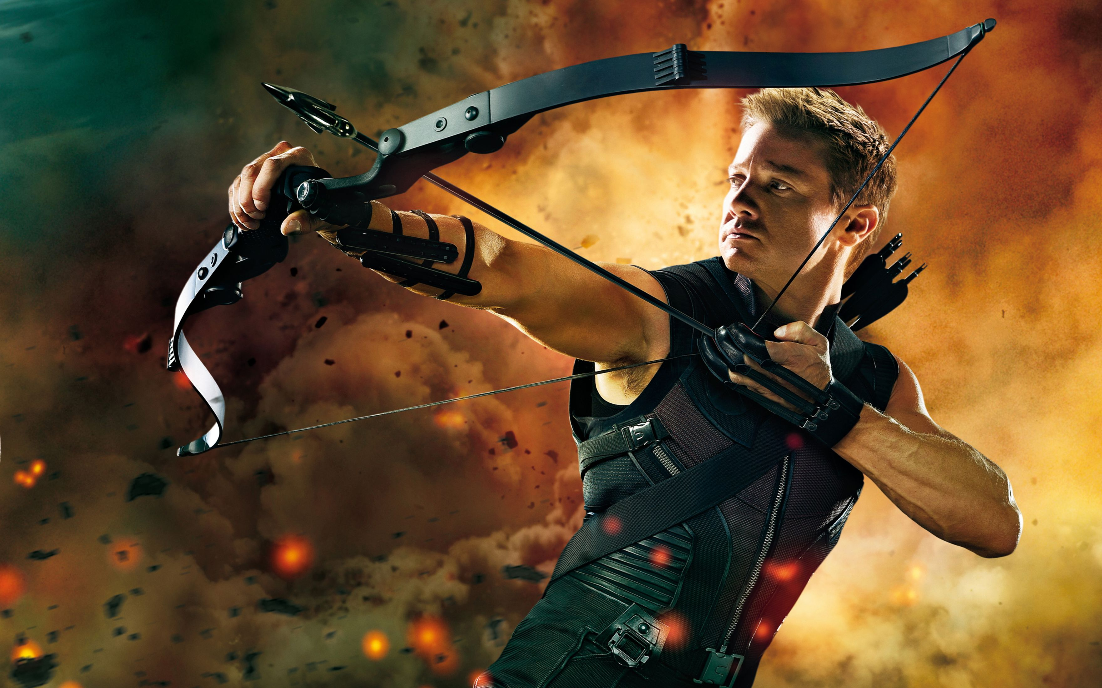 Download free HD Hawkeye in The Avengers Wide Wallpaper, image