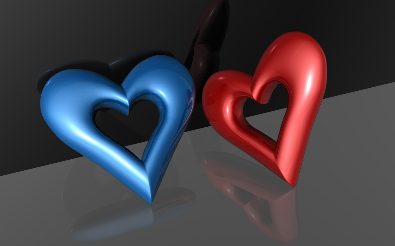 Heart 3D 1280×800 Wallpaper