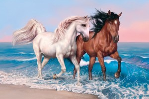 Download Horses Art Wide Wallpaper Free Wallpaper on dailyhdwallpaper.com
