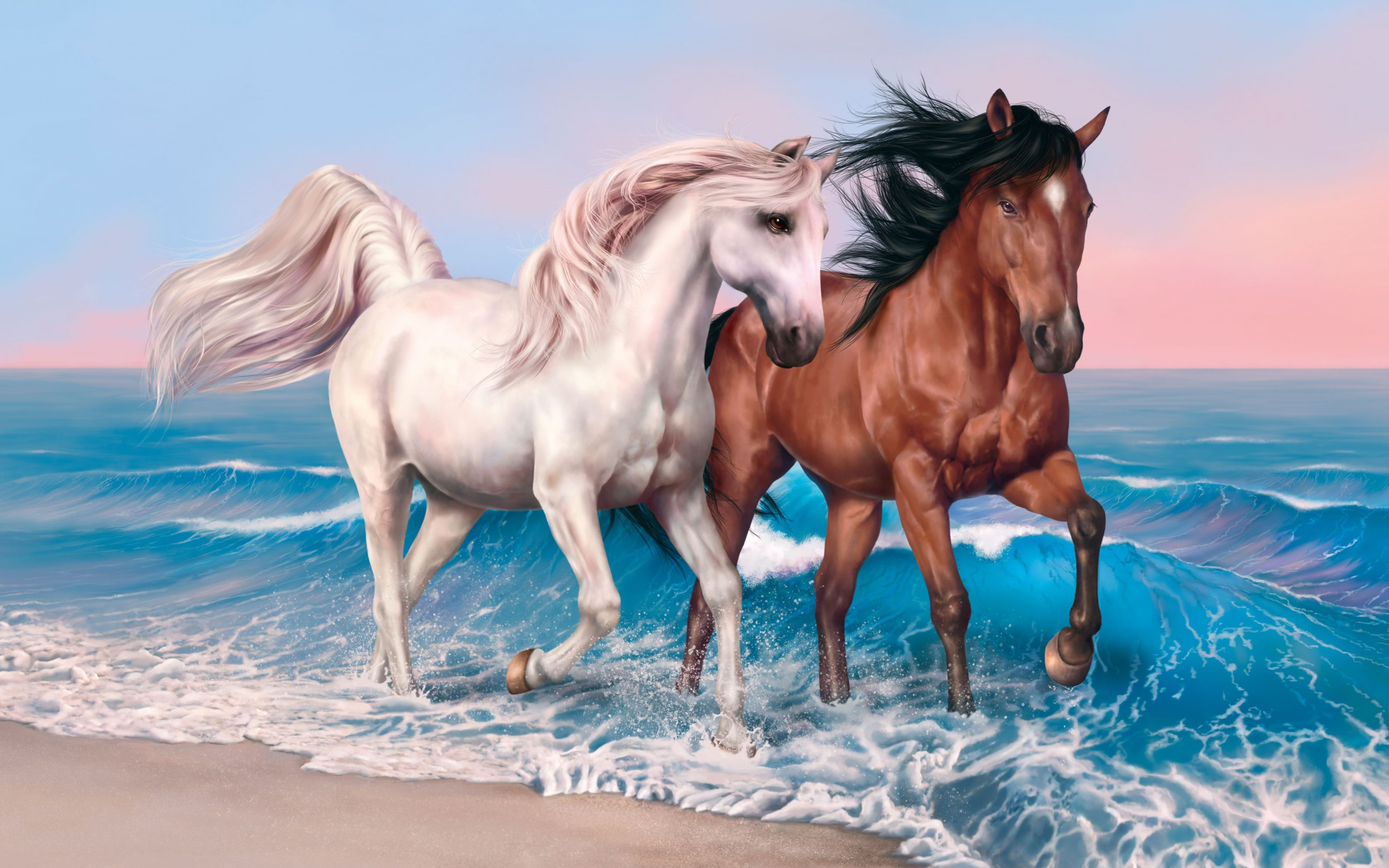Download free HD Horses Art Wide Wallpaper, image