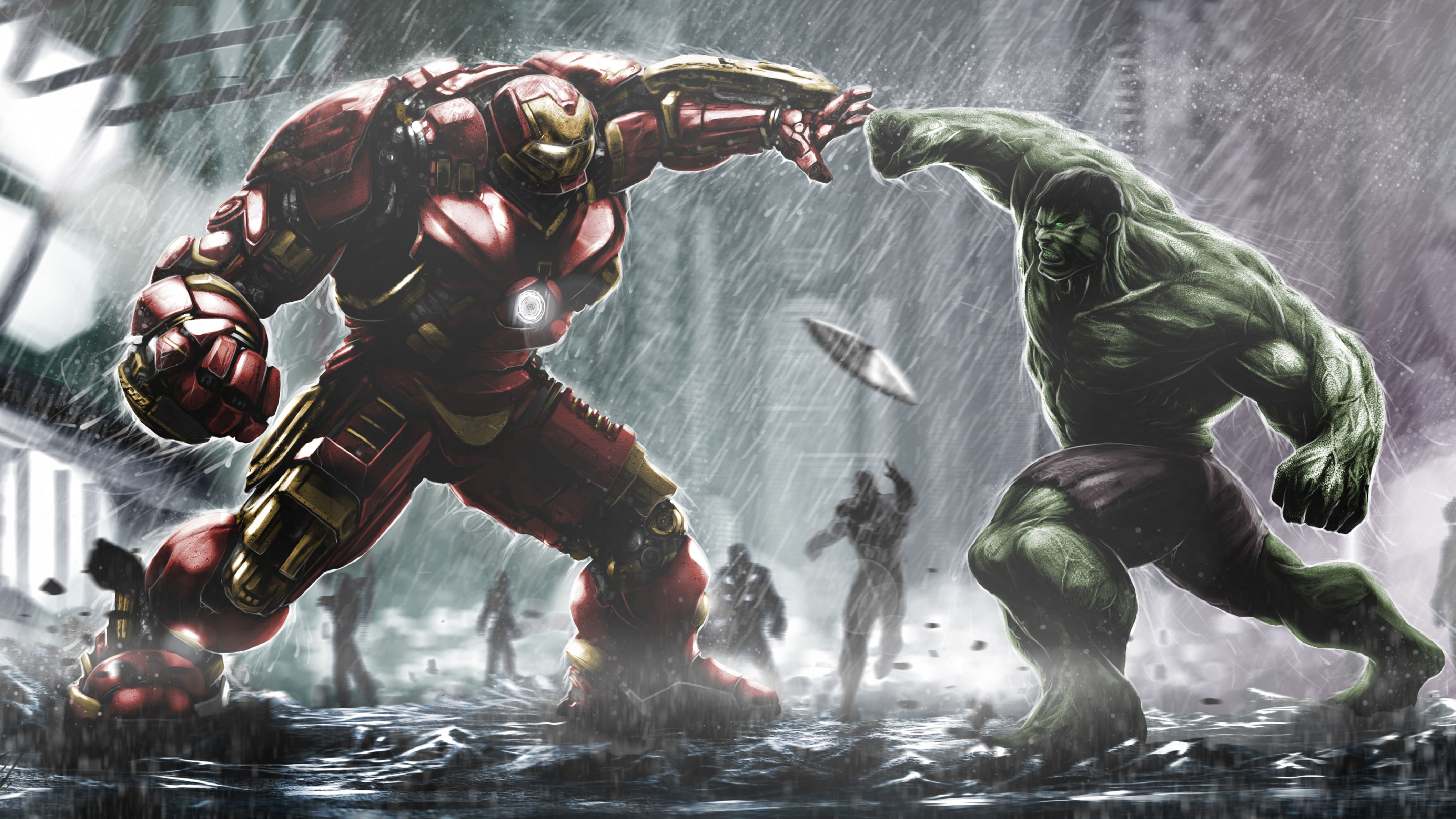 Download free HD Hulkbuster Ironman Vs Hulk HD Wallpaper, image