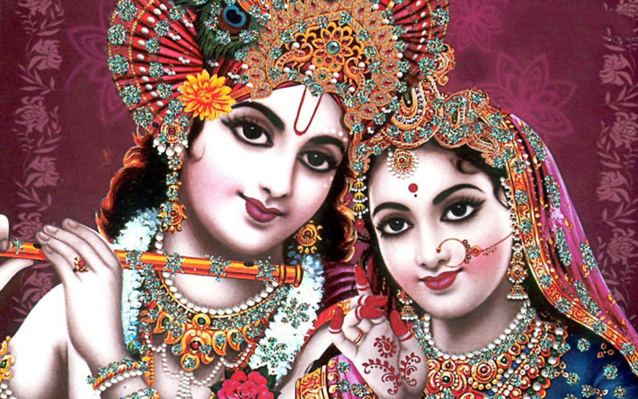 Indian God Radha Krishna Wide Wallpaper Desktop Hd Wallpaper Download Free Image Picture Photo On Dailyhdwallpaper Com 3894