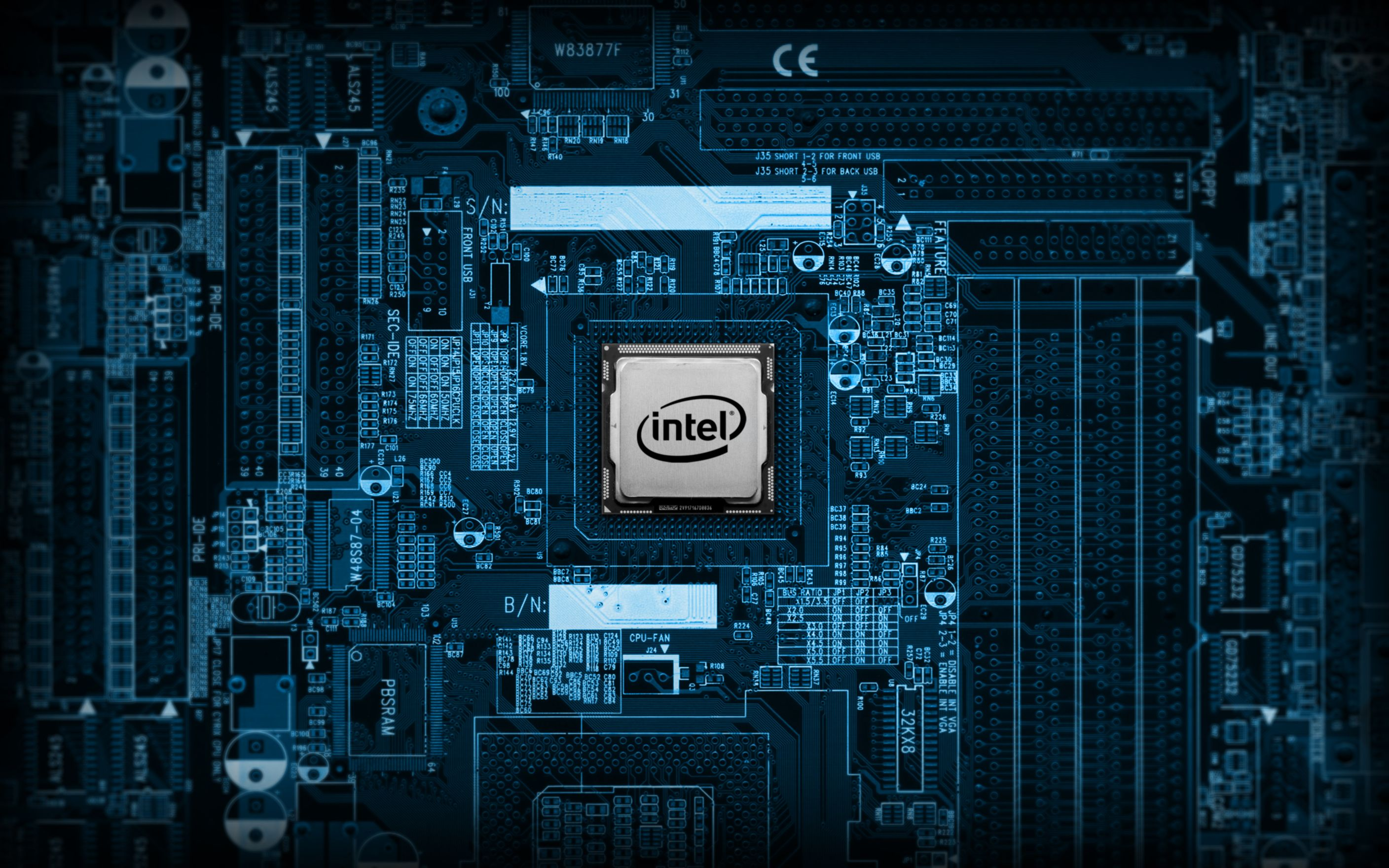 Download free HD Intel Chip Wide Wallpaper, image
