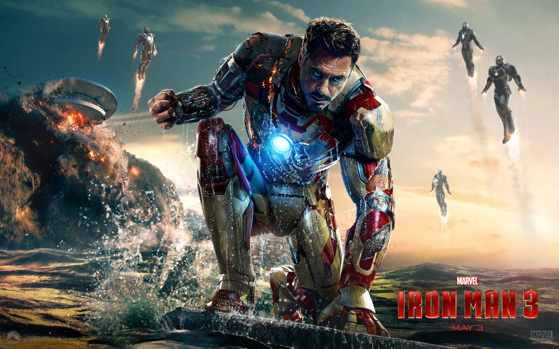 iron man 3 movie wide wallpaper: desktop hd wallpaper - download