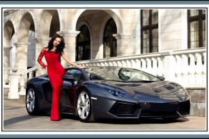 Julia Adasheva And Lamborghini Wallpaper