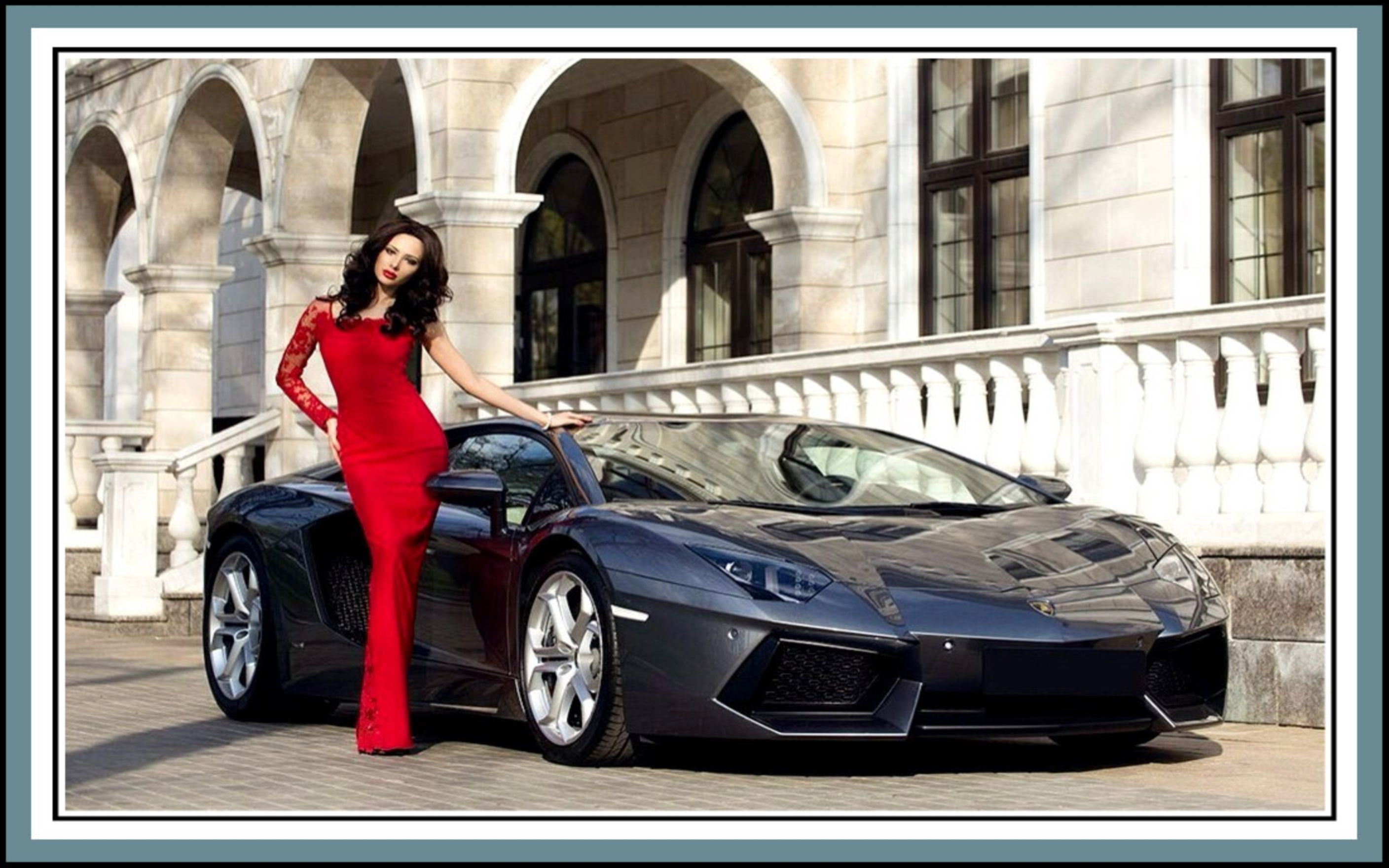 Download free HD Julia Adasheva And Lamborghini Wallpaper, image