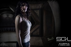 Julia Benson in Stargate Universe Wide Wallpaper