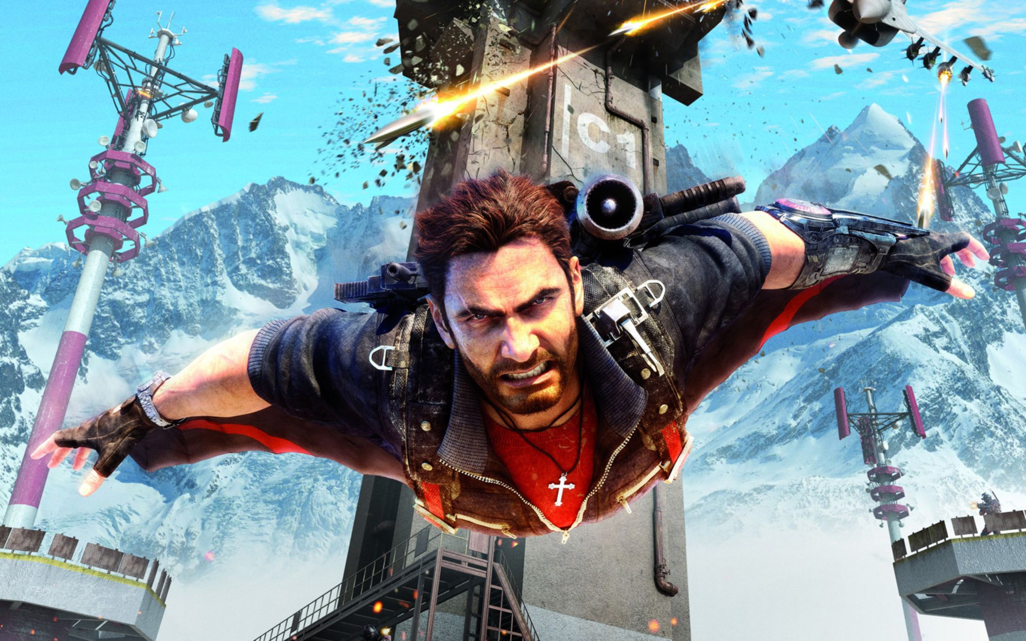 Download free HD Just Cause 3 Rico Wingsuit Wide Wallpaper, image
