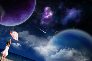 Kids 3D Space Wallpaper