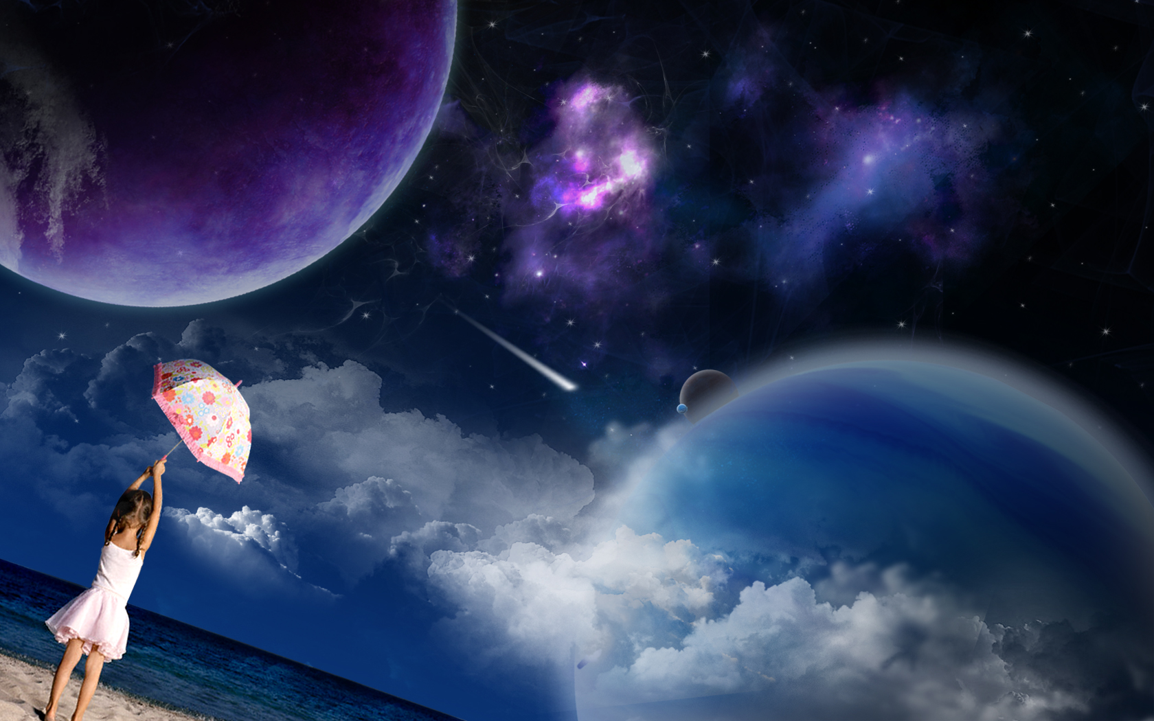 Download free HD Kids 3D Space Wallpaper, image