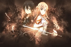 Download Kirito Asuna Back To Back Wallpaper Free Wallpaper on dailyhdwallpaper.com