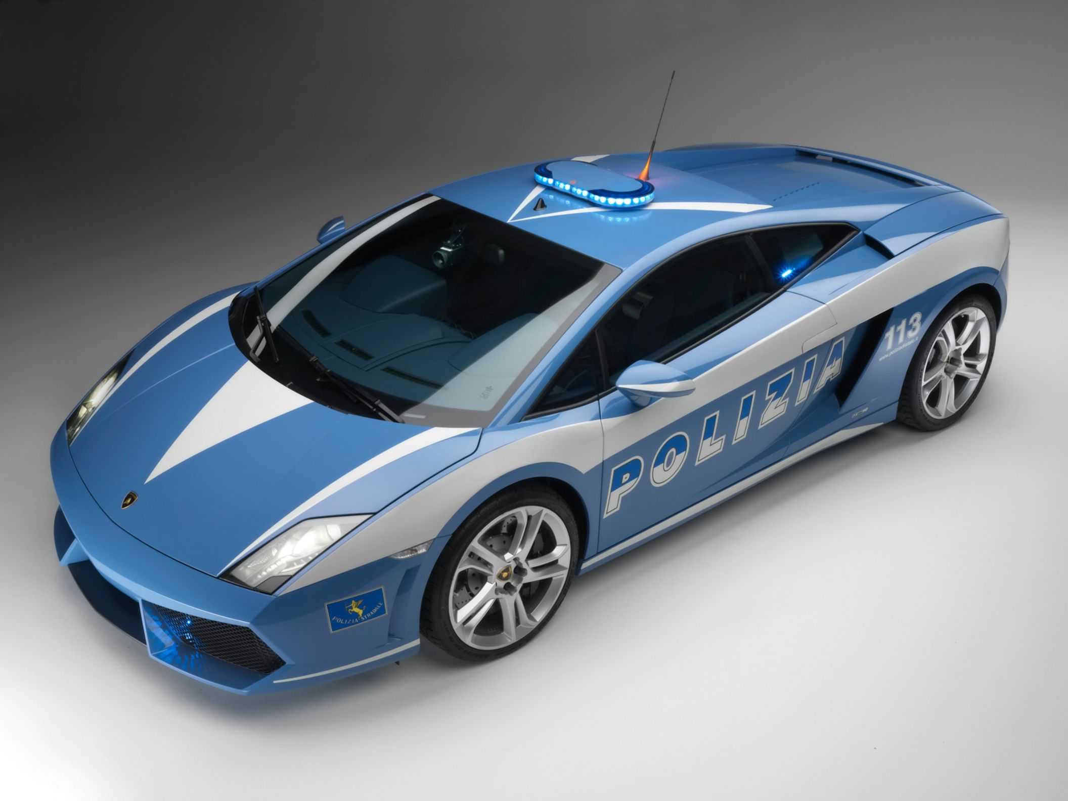 Download free HD Lamborghini Gallardo Polizia Normal Wallpaper, image