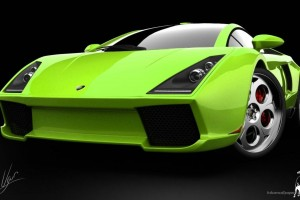 Lamborghini Green Concept Wide Wallpaper
