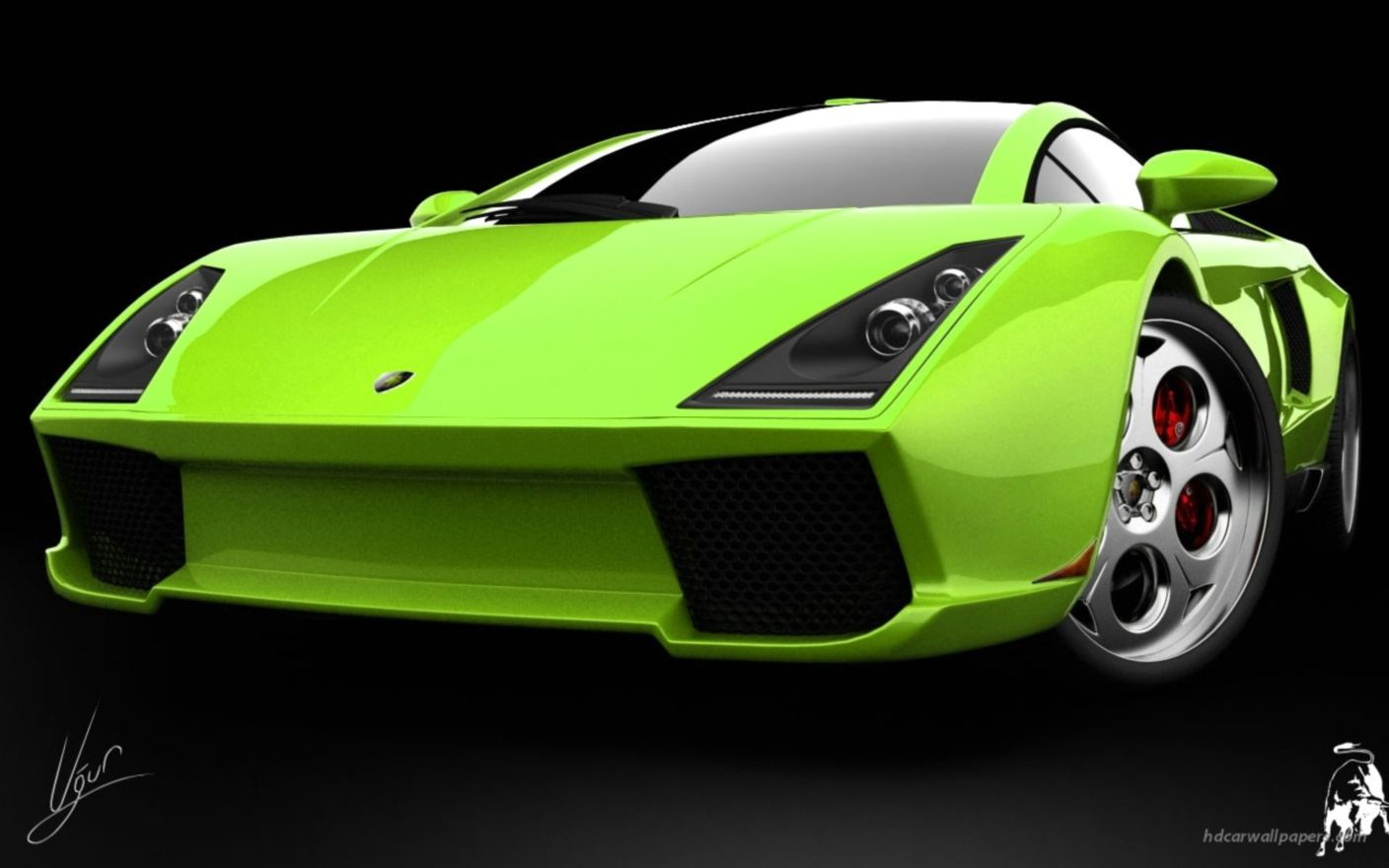 Download free HD Lamborghini Green Concept Wide Wallpaper, image