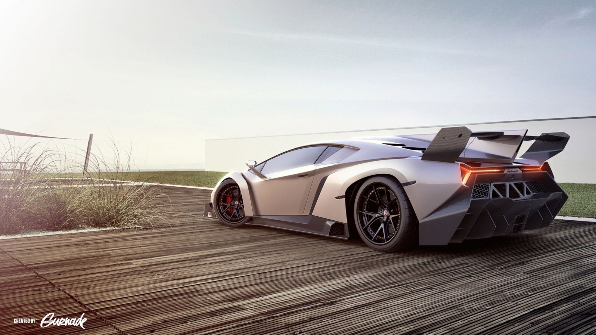 Lamborghini Veneno Sports Car HD Wallpaper