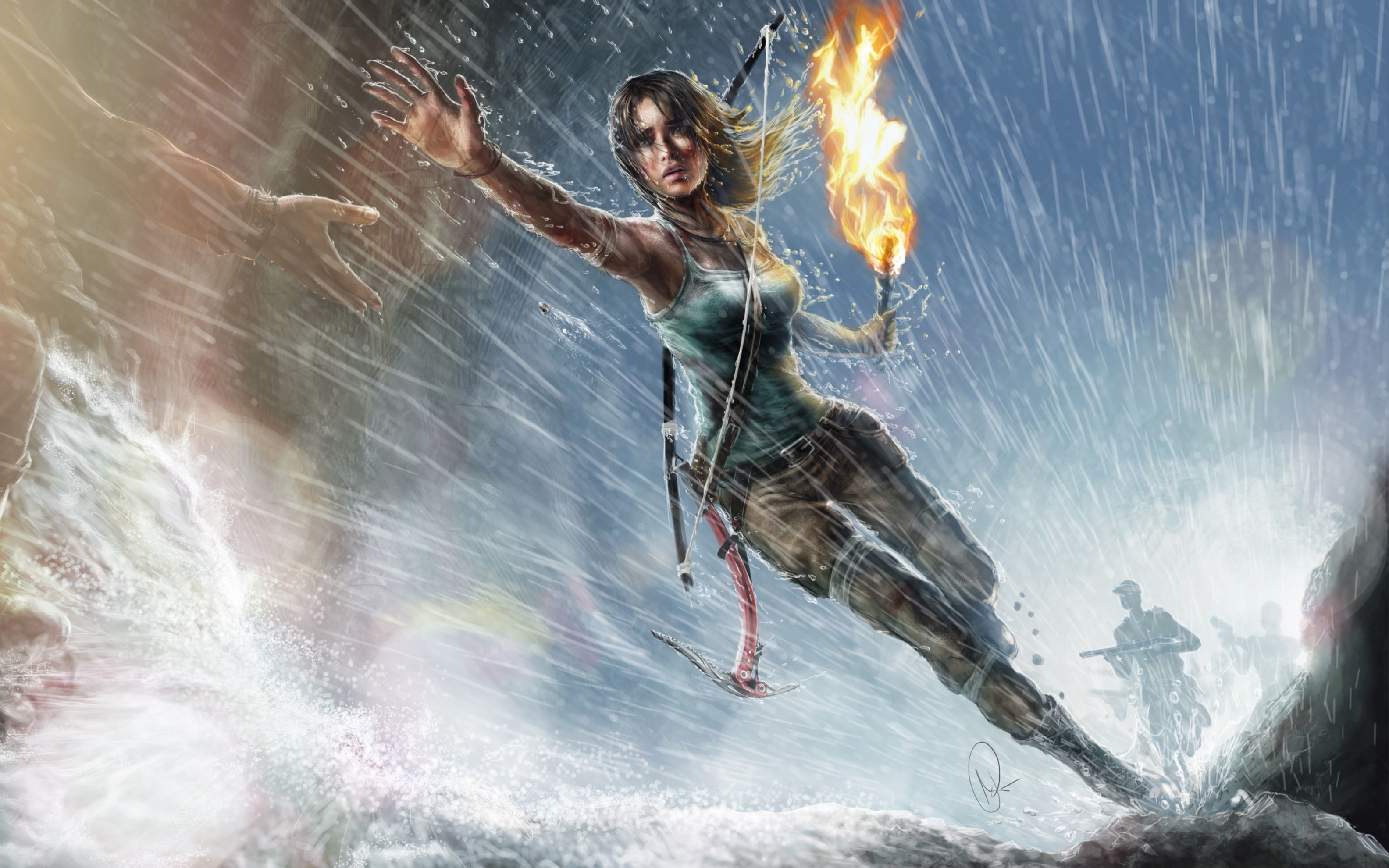 Download free HD Lara Croft Artwork Wide Wallpaper, image