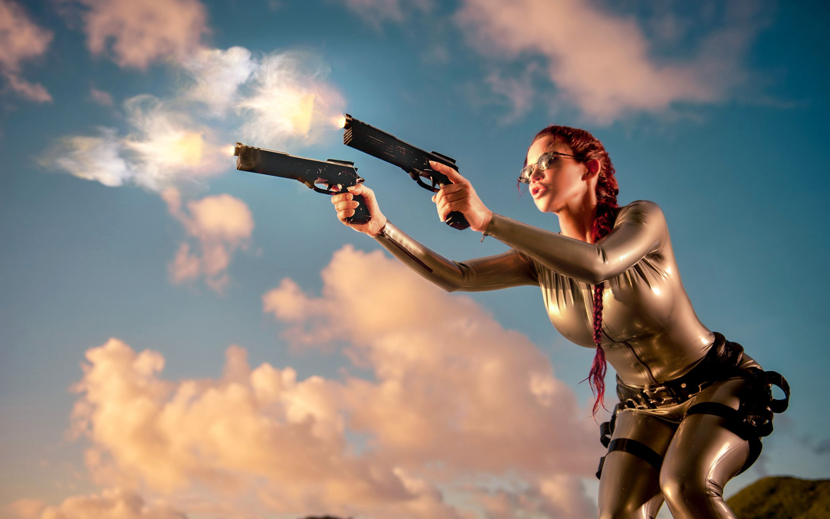 Download free HD Lara Croft Cosplay Wide Wallpaper, image