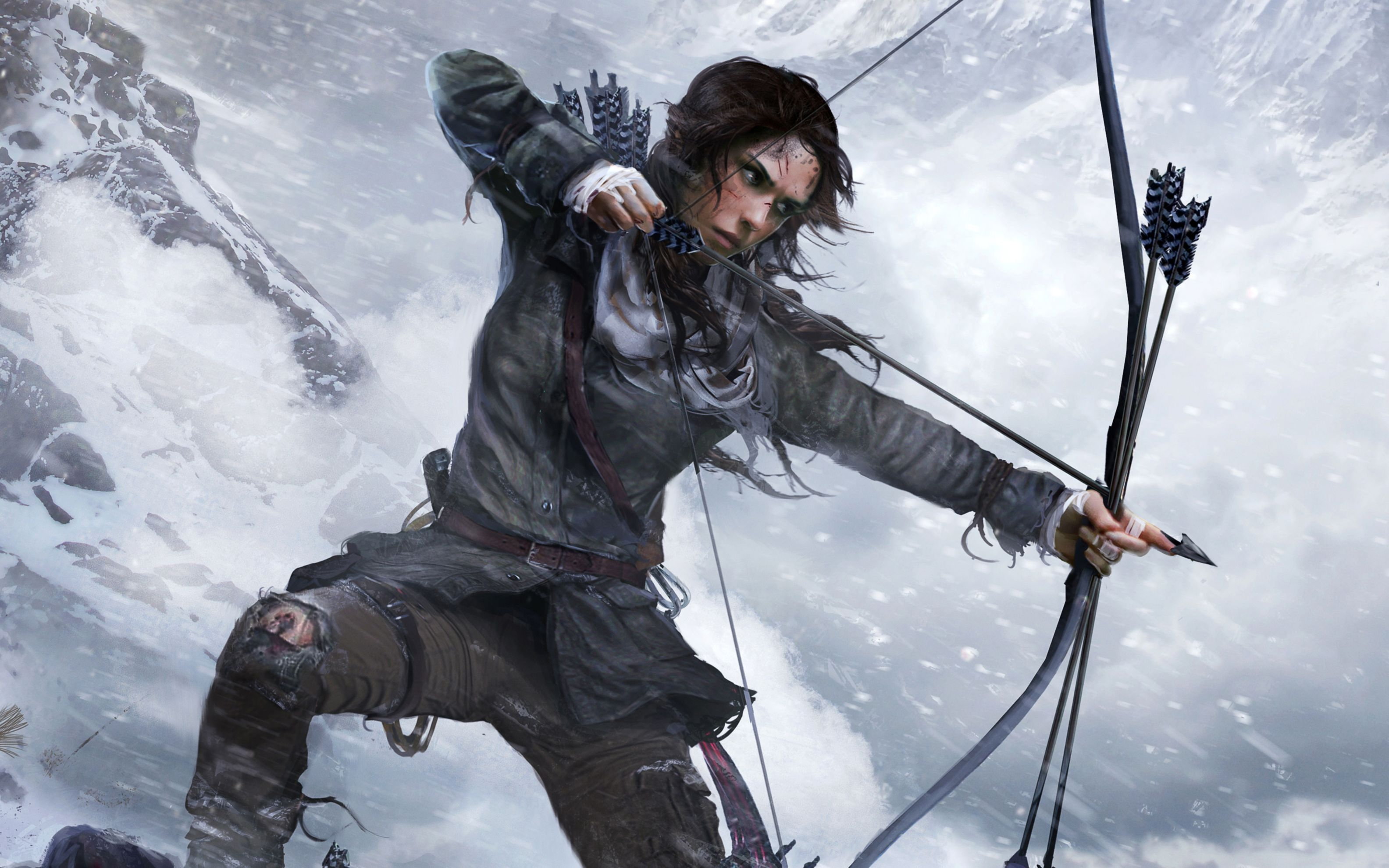 Download free HD Lara Croft Rise Of The Tomb Raider Official Artwork Wide Wallpaper, image
